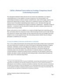 Call for a National Conversation on Creating a Competency-based Credentialing Ecosystem