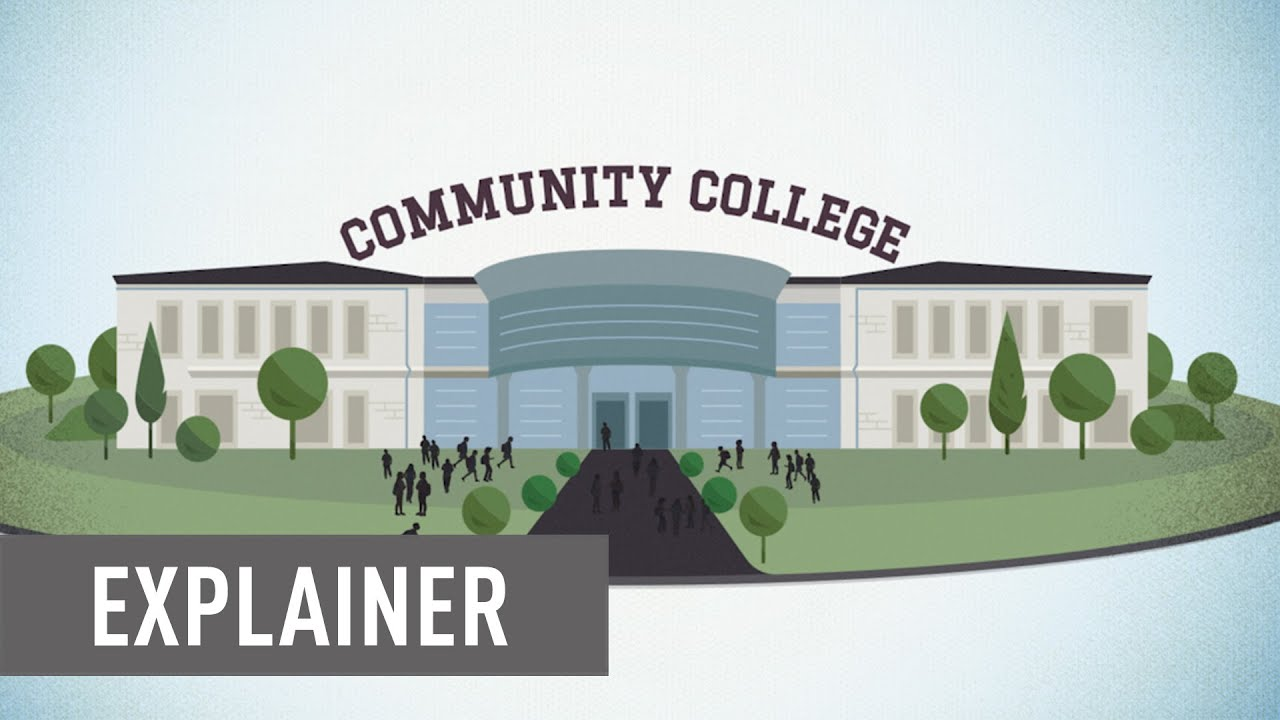 "Still image from CAP's explainer video shows an illustration of a Community College with the word ""Explainer"" overlayed."