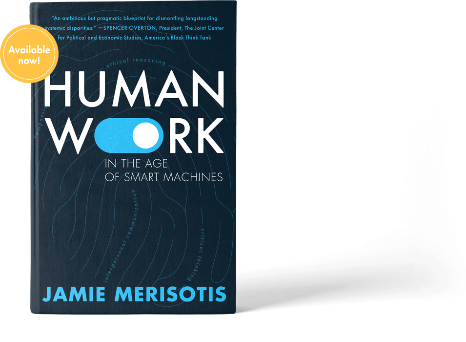 Book cover of Human Work with Coming Soon emblem