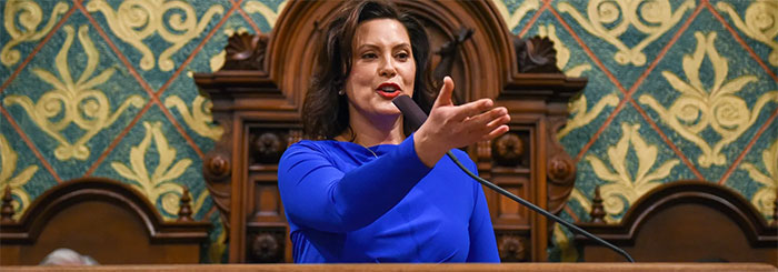 Gov. Whitmer delivers Michigan's State of the State address, Feb. 12, 2019.