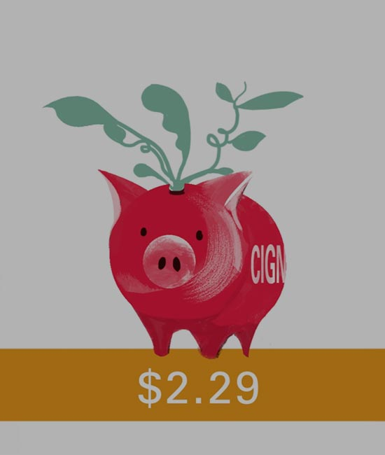 Still from explainer video depicts piggy bank with the savings growth figure of employee talent investment.