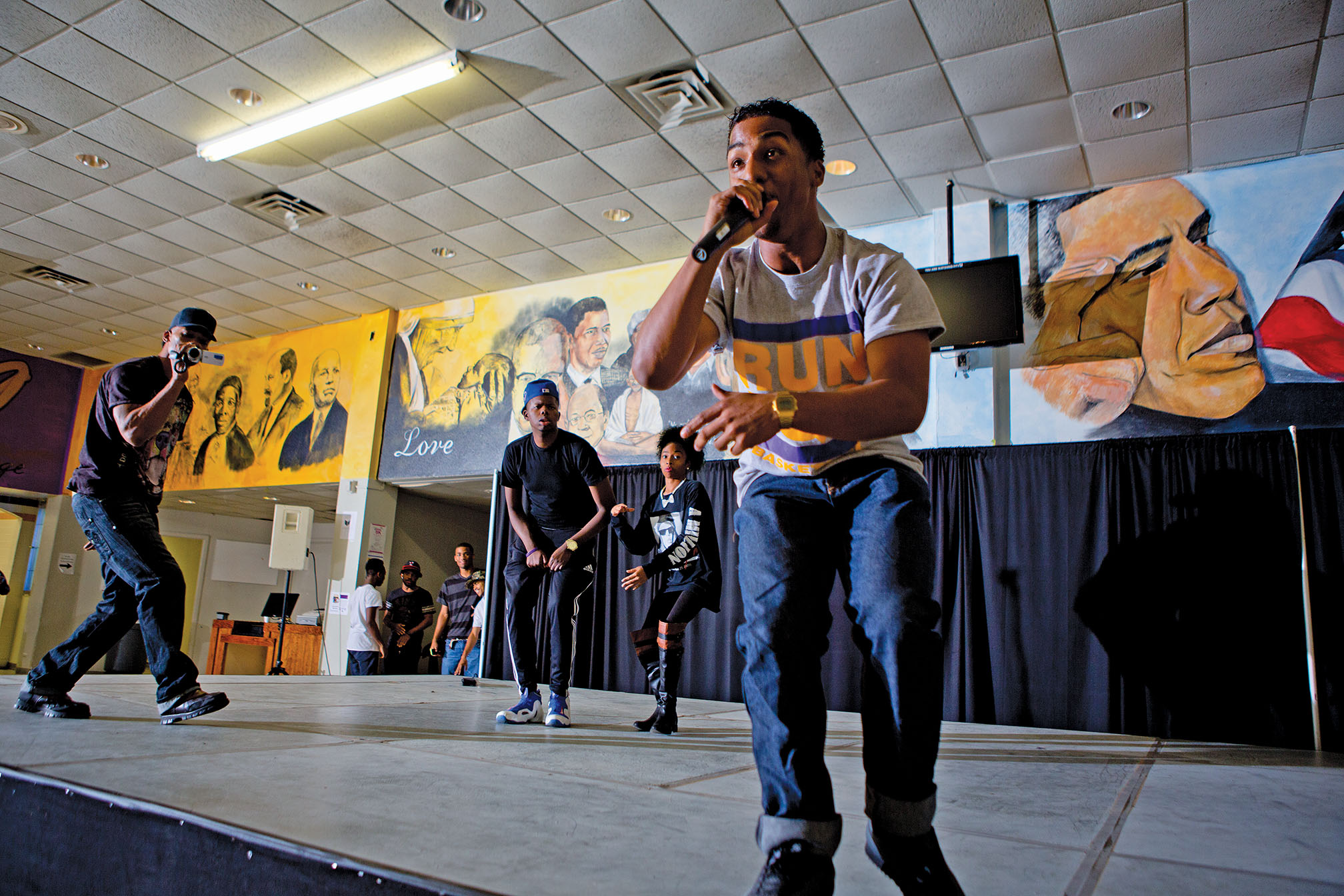 """Lee is unquestionably a serious student, but his talents don't end in the classroom. In fact, rapping as """"K-Rocz,"""" he brought down the house at the college's homecoming talent show."""