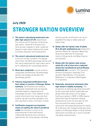 Stronger Nation 2-pager cover for July 2020 update