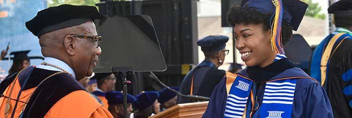 Morgan state president congratulates new graduate