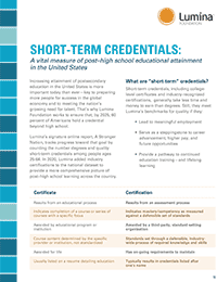 Front page of 2-page resource defining short-term credentials