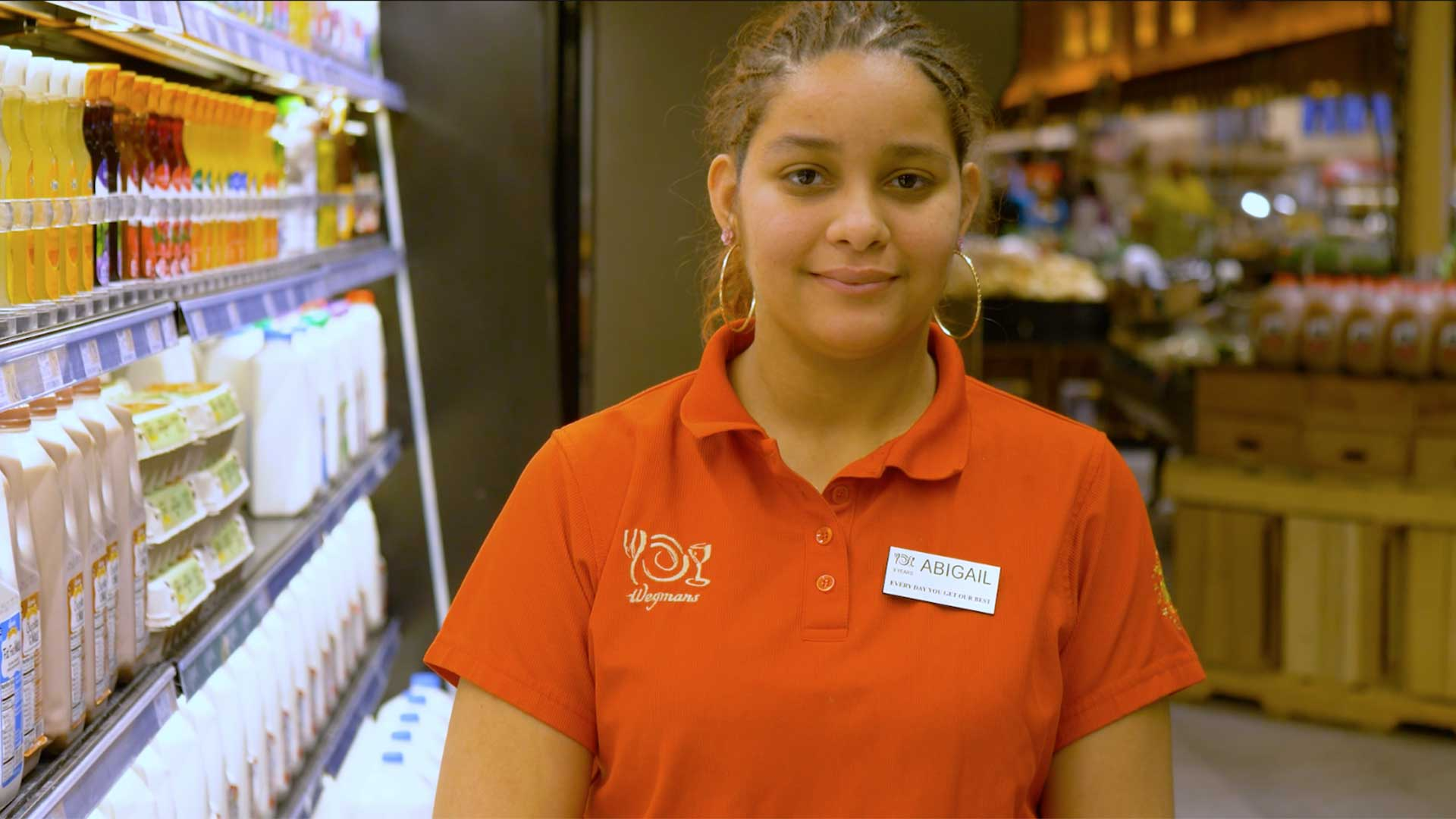 Photo of Abigail Caraballo who started working for Wegmans in 2008 at age 15.