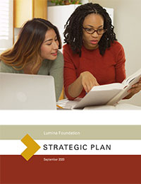 Cover image of Lumina's strategic plan document.