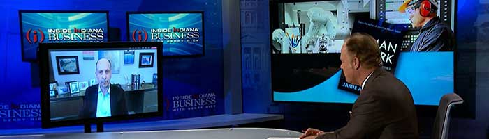 Jamie on a virtual appearance with Gerry Dick of Inside Indana Business.