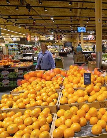 Wegmens' produce section.