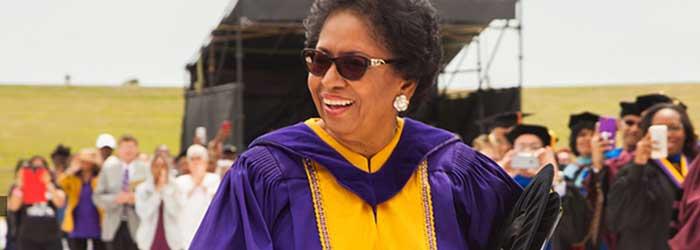 Ruth Simmons at graduation.
