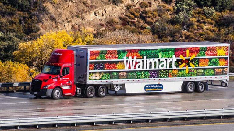 Walmart branded truck.